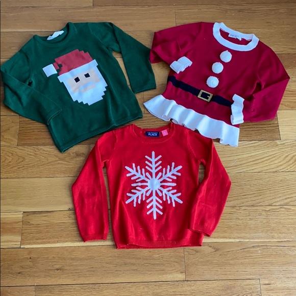 3 Christmas sweaters